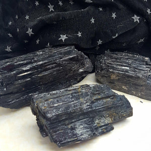 Black Tourmaline Raw Chunks | Carpe Diem with Remi