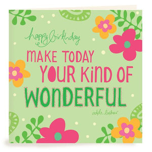 Make Today Wonderful Birthday Card | Carpe Diem With Remi