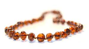 Necklace Amber Cognac Baroque 32 cm | Carpe Diem with Remi