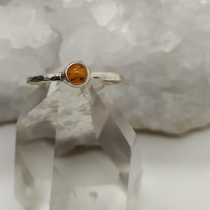 Ring Amber Petite Size 7 | Carpe Diem with Remi