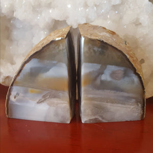Agate | Bookends | Pair | Carpe Diem with Remi