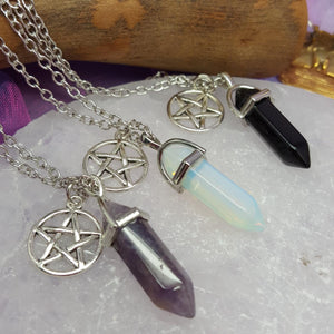 Necklace Pentagram Crystal Point | Carpe Diem with Remi