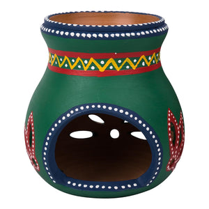 Clay Oil Burner Variants 12 cm | Green | Carpe Diem With Remi