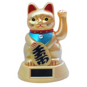 Waving Cat (Maneki Neko) Statue  | Carpe Diem with Remi