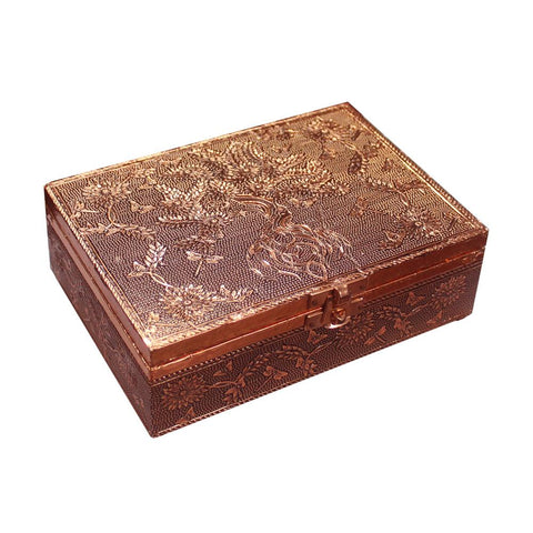 Aluminium Copper Plated Tree Of Life Box | Carpe Diem with Remi