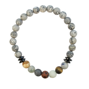 Wristband Mens Matte Chakra Beads | Carpe Diem With Remi