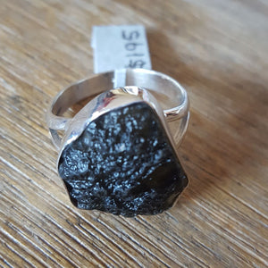 Ring Moldavite Raw Size 12 Large | Carpe Diem with Remi
