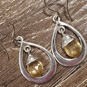 Earrings | Citrine | Faceted | Entia | Carpe Diem with Remi