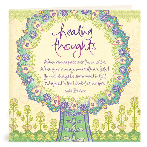 Healing Thoughts Greeting Card | Carpe Diem with Remi