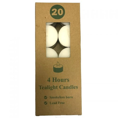 Tea Light | 4 Hour 20 Pack  | Carpe Diem with Remi