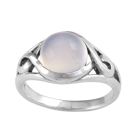 Ring | Neptune's Realm | Rainbow Moonstone | Carpe Diem with Remi
