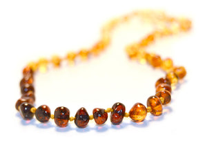 Necklace Amber Rainbow 32 cm | Carpe Diem with Remi