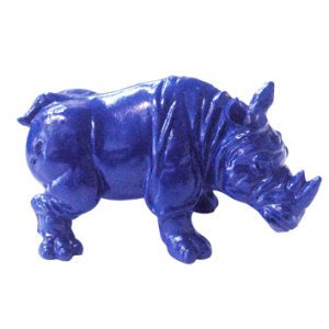Rhinoceros Blue Protection Statue | Carpe Diem with Remi