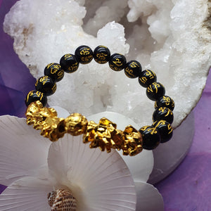 Bracelet Pi Xiu Black Obsidian 8 mm Beads | Carpe Diem with Remi