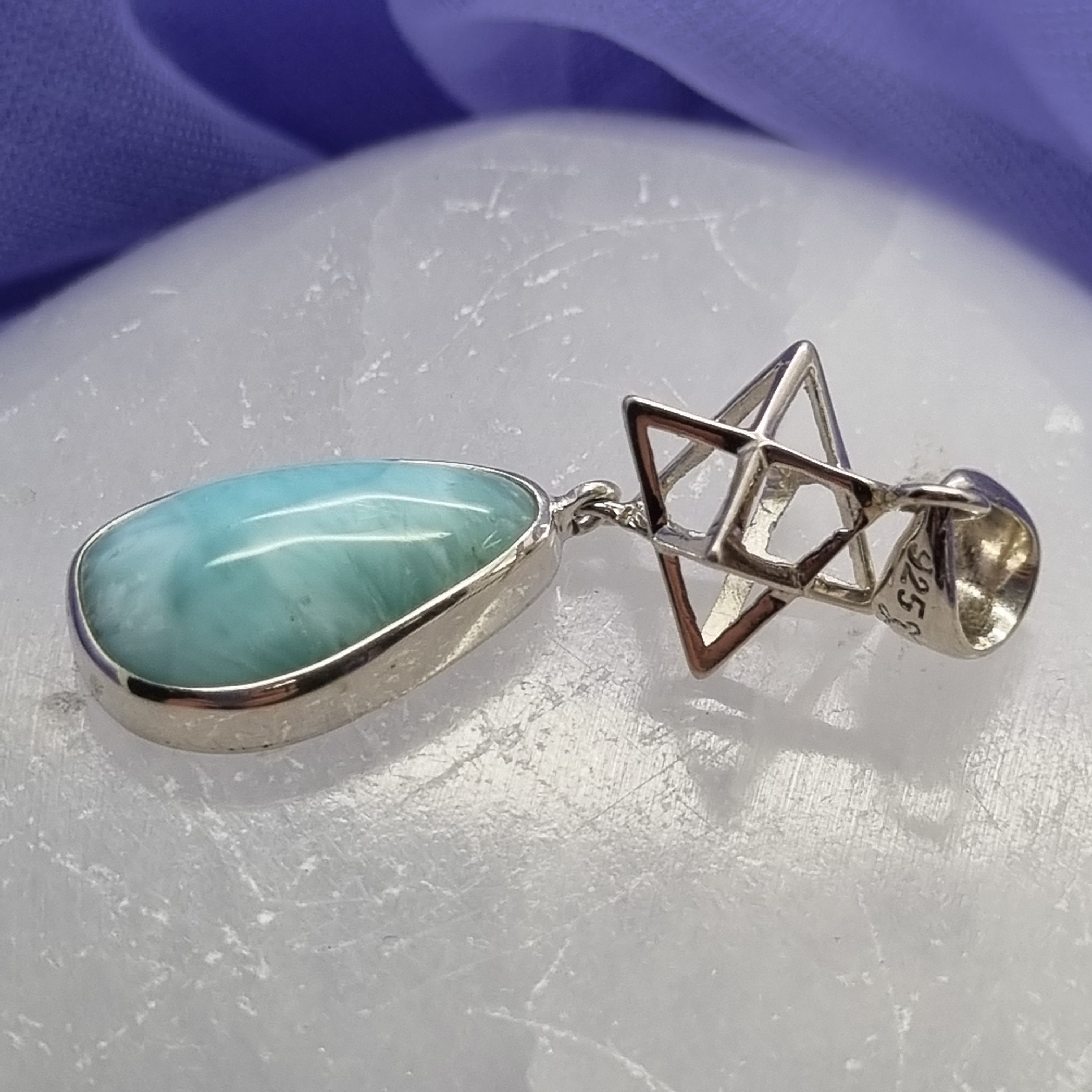 Pendant Larimar With Merkabah | Carpe Diem With Remi