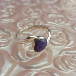 Ring Charoite Size 7.5 | Carpe Diem with Remi