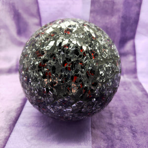 Friendship Ball Black Silver and Red Mosaic | Carpe Diem With Remi