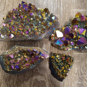 Cluster Amethyst Rainbow Aura | Multi-Select | Carpe Diem with Remi