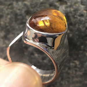 Ring Adjustable Baltic Amber Size 7.5 | Carpe Diem With Remi