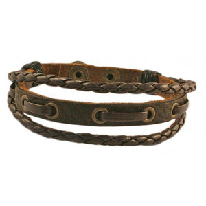 Wristband Brown Leather | Carpe Diem With Remi