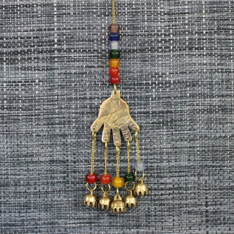 Brass Bell | Hand | Chakra Beads | Carpe Diem with Remi
