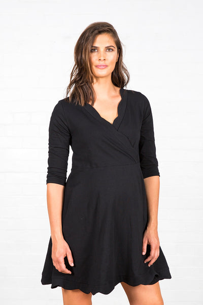Havana Scalloped Feed Dress - Amor&Grace