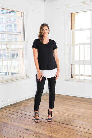 Lax Feed Top [Black] - Amor&Grace
