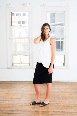 Tube Midi Skirt [Black] - Amor&Grace