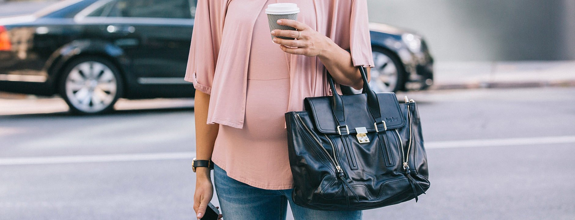 Amor & Grace Modern Maternity-Breastfeeding Clothes-Florence Cape Feed Top (Blush)