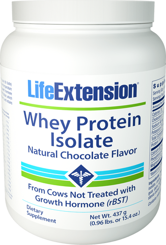 Whey Protein Isolate (Natural Chocolate Flavor) | 437 grams (0.96 lb. or 15.4 oz.)