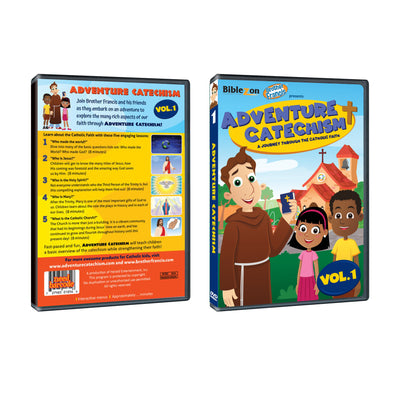 Adventure Catechism DVD ( Ships Dec 7 2019)  A Journey through the Catholic faith with Brother Francis and his friends