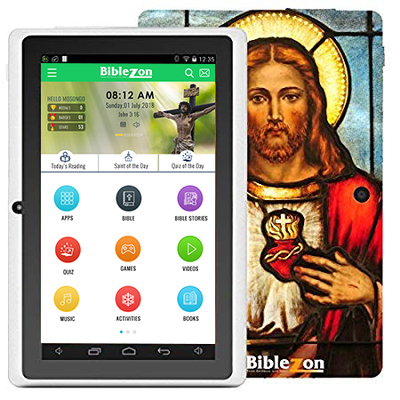 Biblezon Catholic Tablet-Jesus ( Teens & Adults) FREE LENT APP INCLUDED