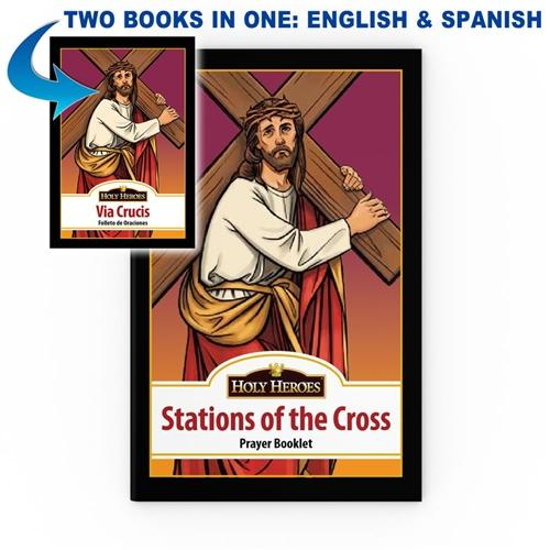 "Bi-lingual ""Stations of the Cross"" Prayer Booklet"