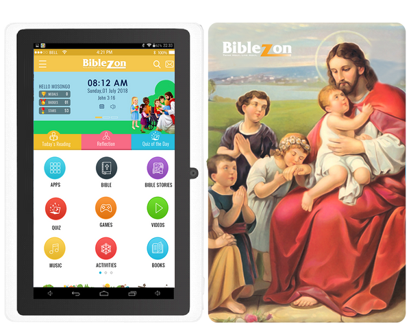 Biblezon Catholic Tablet ( Ages 4 - 12).  Preloaded with over 50 exclusive Catholics apps, videos, games, books and more. SHIPS NOVEMBER 15 2018. FREE SHIPPING INCLUDED!