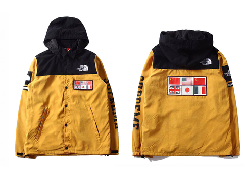 Yellow North Face x Supreme Windbreaker
