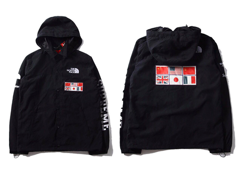 Black North Face x Supreme Windbreaker