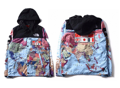 World Map  Windbreaker