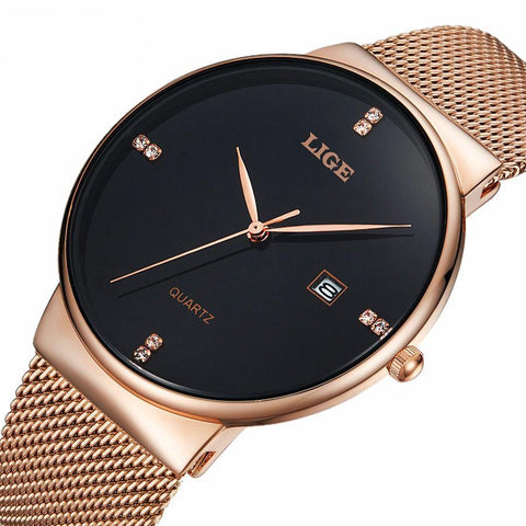 Lige Rose Gold Watch
