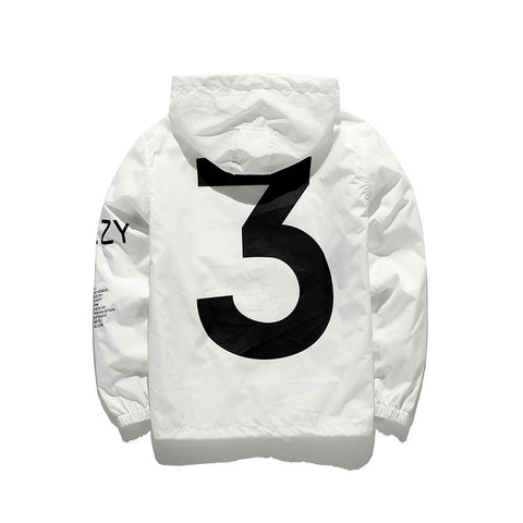 White 3 Windbreaker Jacket