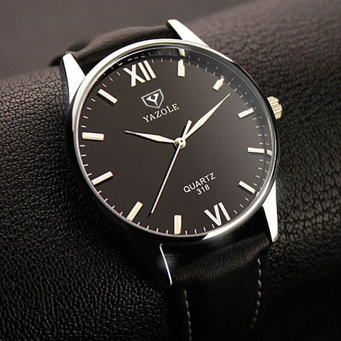 YAZOLE Leather Strap Watch