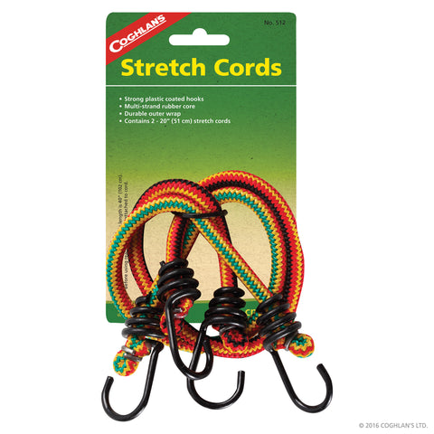 "COGHLANS 20"" STRETCH CORDS - PKG OF 2"