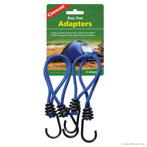 COGHLANS GUY LINE ADAPTERS-PKG OF 4