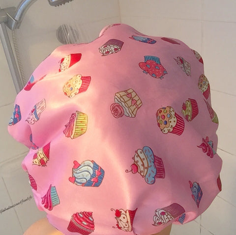 Dilly's Collection Cupcakes Shower Cap