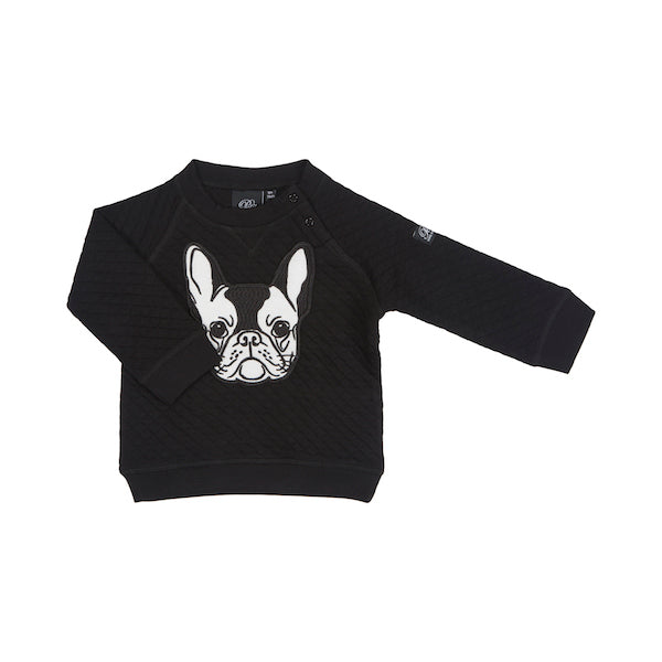 7a626823a9d PETIT BY SOFIE SCHNOOR Sweat w Dog - Black Color