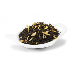 Black Mango Tea with flower petals. - Paraffine