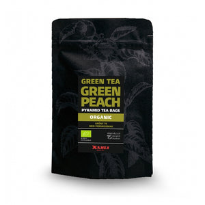 Green Tea Peach, Organic, in Pyramid Teabags. - Paraffine