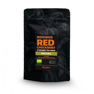 Red (Rooibos) Chockmint Tea, Organic and Caffeine Free,  in Pyramid Teabags. - Paraffine