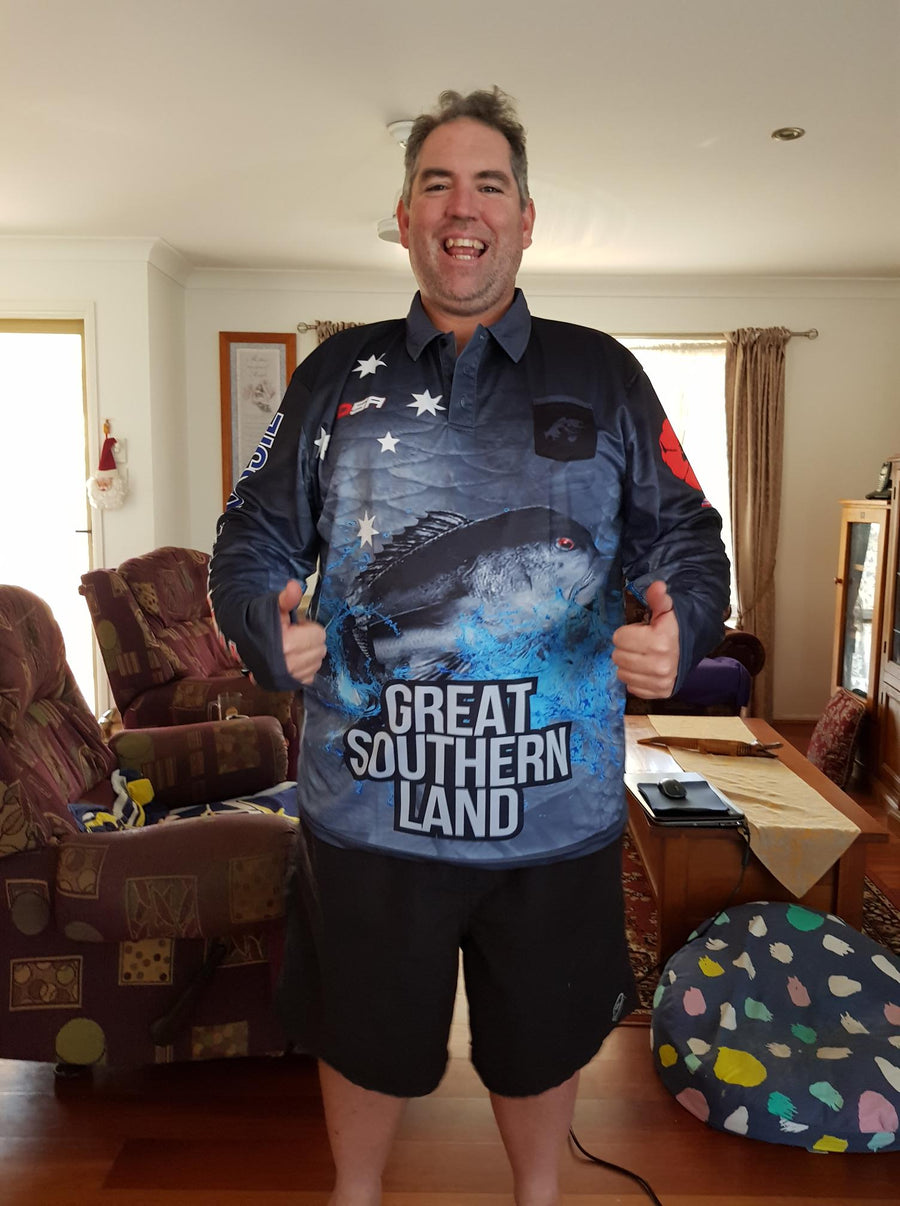 A Person Wearing Great Southern Land Fishing Shirt