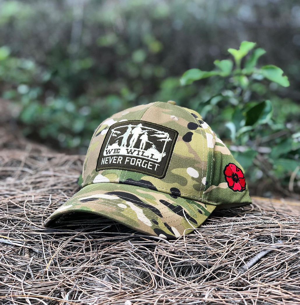 Never Forget Camo Cap - LIMITED