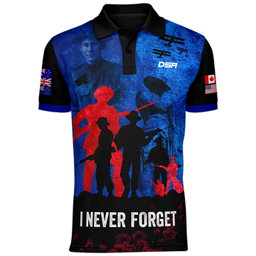 Red Poppy Remembrance Polo Shirt